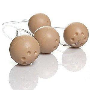 Bolinhas Ben-Wa para Pompoar de Plástico Rígido e Cordão de Silicone Love Balls