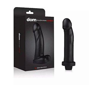 Pênis Realístico com Vibrador (18,5 cm) - Coleção Dom