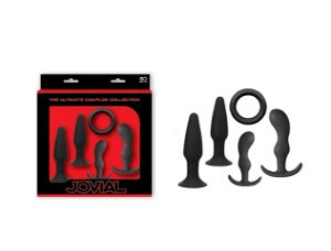 Kit Anal com 4 Plugs e 1 Anel Peniano em Silicone - The Ultimate Anal Kit - Jovial