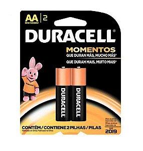 Pilha Duracell AA Pequena 1,5V 2 unidades