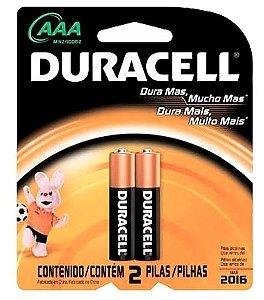 Pilha Duracell AAA Palito 2 unidades