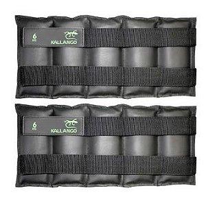 Caneleira profissional emborrachada 6 KG - Velcro Móvel ( PAR )