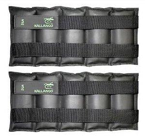 Caneleira profissional emborrachada 5 KG - Velcro Móvel ( PAR )