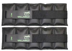 Caneleira profissional emborrachada 2 KG - Velcro Móvel ( PAR )