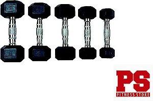 Kit Halteres Sextavado Luxo - Par de 1kg até 10kg