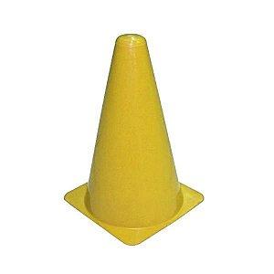 Cone de PVC 20cm Amarelo Flexível