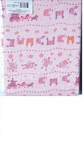 Toalha de banho 100% algodão com capuz e forrada com fralda, tam/ 70cm x 90cm