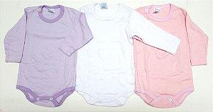 Body em suedine manga longa, 100% algodão, Eligal baby, muito conforto para os bebês