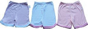 Shorts em malha suedine 100% algodão