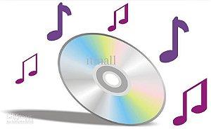 1 cd de telemensagem mp3 128 kps com 10 titulos