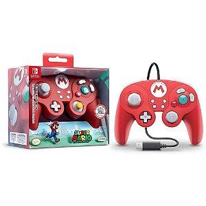 Controle GC Nintendo Switch Super Mario Com Fio