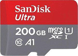 Cartão de Memória Micro SD 200GB Ultra Speed 100MB/S - Sandisk