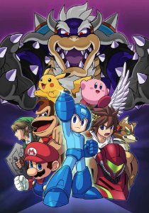 Quadro Decorativo Super Smash Bros