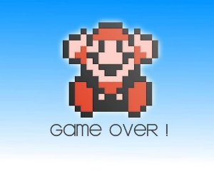 Quadro Decorativo Game Over Mario