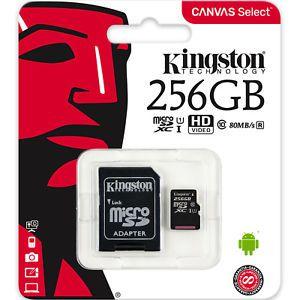 Cartão de Memória Micro SD 256gb Ultra Speed 80MB/S - Kingston