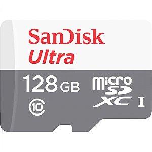 Cartão de Memória Micro SD 128GB Ultra Speed 80MB/S - Sandisk