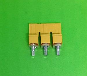Ponte 3 polos WQV 6/3  p/ Conector Borne SAK 6/35 Weidmüller