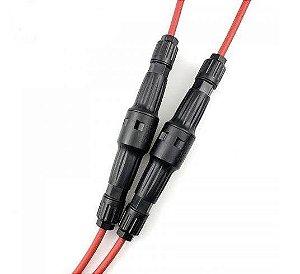 Conector MC4 para cabo c/ Fusível Interno10x85  15A 1500 Vcc