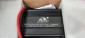 Inversor 2000 watts Onda senoidal pura 12Vdc saída 127 Vac PANDA