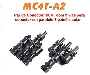 CONECTOR MC4T-A2 3 VIAS SOYO (par)