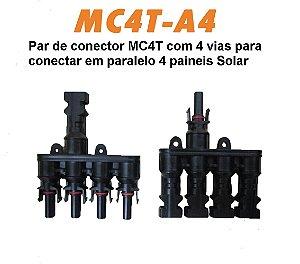 CONECTOR MC4T-A4 4 VIAS (par)