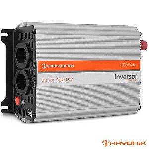Inversor 1000w 12v P/ 220  Hayonik  p/ usar energia solar