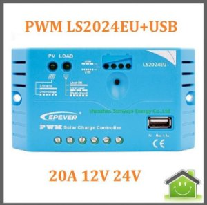 Controlador De Carga Solar Ls2024eu 20a 12v 24v, Epsolar