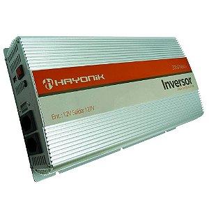 Inversor De Onda Senoidal Pura 12vdc/127v Usb 2000w Hayonik
