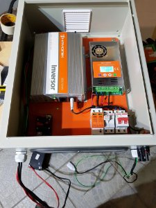 Kit 3 - Painel Solar+controlador+ Inversor Montado