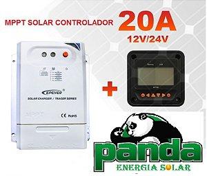 Controlador MPPT Solar 20a Tracer2210cn 12/24v + MT 50