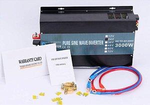 Inversor 3000w De Onda Senoidal Pura 24vdc - 220vac 60hz