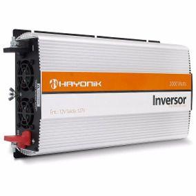 Inversor de Onda Modificada 2000W 12VDC / 220V USB HAYONIK