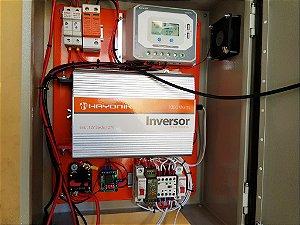 Kit Energia Solar Offgrid com Transferência Automática p/ rede Eletrica