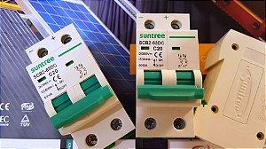 Disjuntor CC Bipolar 20A 550VDC  SCB2 Suntree