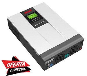 Inversor Hibrido 5KW c/ controlador solar Interno 80A MPPT 220V Must Solar