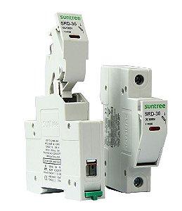 Porta Fusível SRD-30 PV c/ fusível 15A 1000VDC gPV Suntree