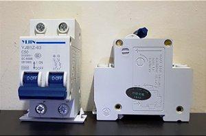 Disjuntor CC Bipolar 63A 250VDC SCB2 Yijin