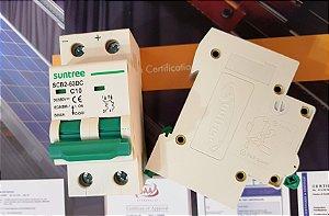 Disjuntor CC Bipolar 10A 550VDC SCB2 Suntree