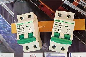 Disjuntor CC Bipolar 16A 550VDC SCB2 Suntree