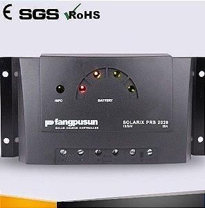 Controlador Solar C/ display LED 20A 12 V/24 V PRS2020 Fangpusun