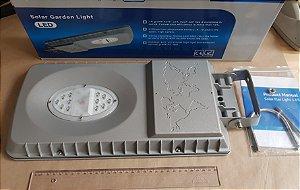 Luminária de alumínio solar de rua 1000 lúmens