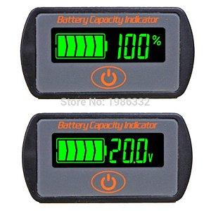 Voltímetro Medidor Capacidade De Bateria 12 V 24 v