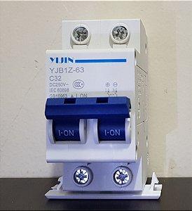 Disjuntor CC Bipolar 32A  250Vdc YIJIN