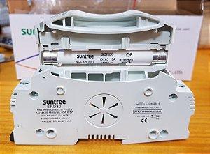 Porta Fusivel CC 1500Vdc 10 x 85 SRD-30 c/ Fusivel 15A Suntree