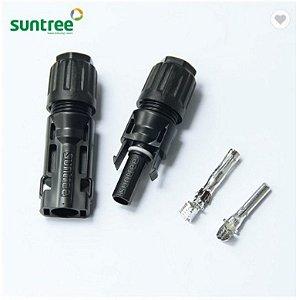 Conector MC4 1500 VDC 50A Suntree (par)