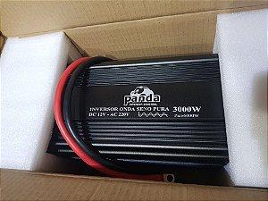 Inversor 3000 watts Onda Senoidal pura 12Vdc saída  220Vac panda