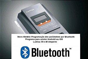 Controlador de Carga Solar MPPT 40A MT4010 BT 12/24 Vcc - Lumiax