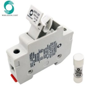 Porta Fusível Solar CC c/ fusível 15A 1000VDC gPV