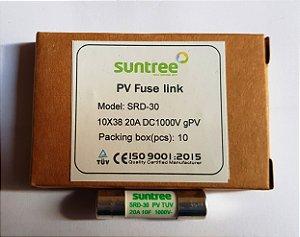 Fusível Solar 20A 1000Vdc gPV 10x38 Suntree caixa 10 Unidades