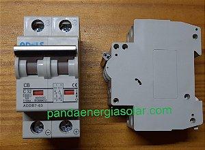 Disjuntor CC Bipolar 32A 600VDC ADDB7-63 ADELS